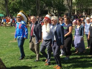 GRAD POW WOW AT U OF S (METIS, INUIT, & FIRST NATIONS HIGH SCHOOL & U OF S GRADS ACROSS SASK.