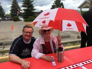 Celebrating Canada Day on Louise Street