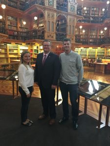 Saskatoon-Grasswood Residents Emma King & Tyler Cates in the Library of Parliament