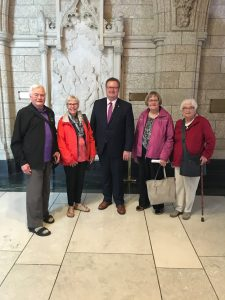 Larry Mitchell, Patricia Henderson, Betty Mitchell & Annie Scott - Saskatoon-Grasswood Residents visiting in Ottawa