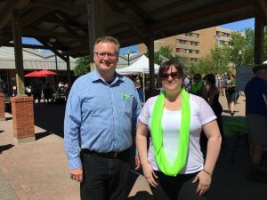 Stopped in for a chat with Marilyn Hamoline at the Lyme Awareness booth at the Farmers Market