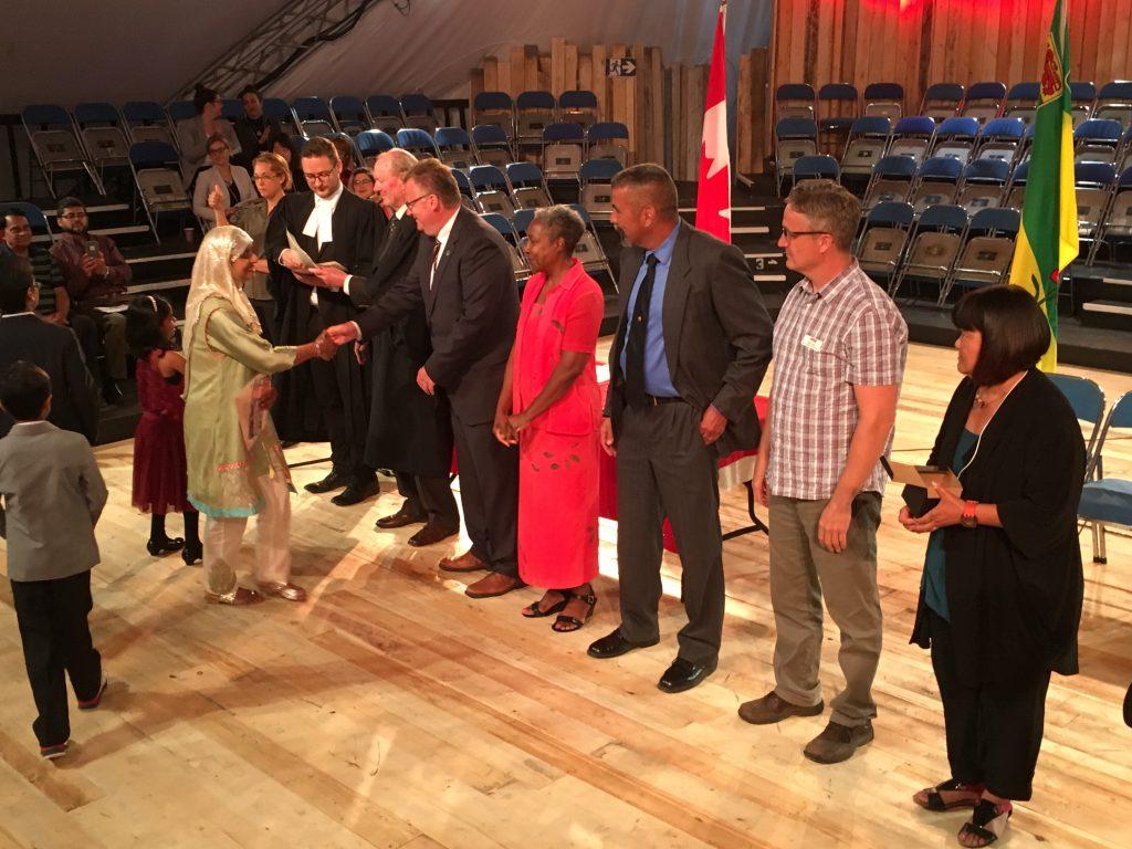 CANADIAN CITIZENSHIP CEREMONY-SHAKESPEARE ON THE SASKATCHEWAN