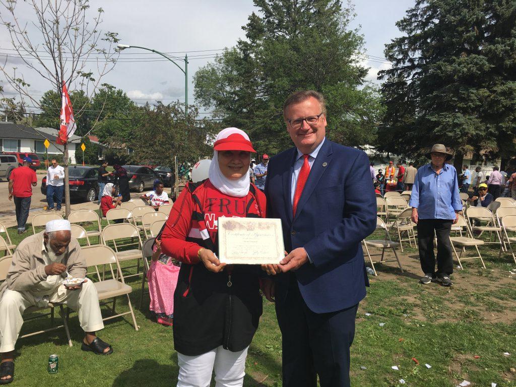 HANAN ELBARDOUH SASKATOON-GRASSWOOD CANADA 150 AWARD