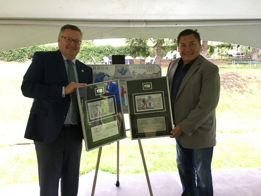 UNVEILING OF THE 25TH ANNIVERSARY GREAT TRAIL SILVER COIN