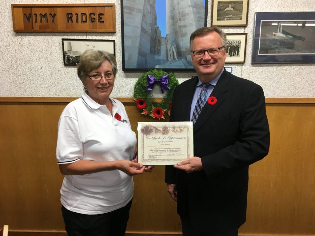 DIANE ROBSON-CANADA 150 AWARD