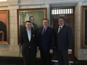 JEREMY HARRISON, MINISTER OF EXPORT & TRADE DEVELOPMENT & PREMIER SCOTT MOE