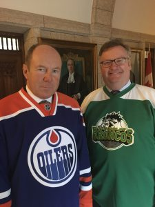 KERRY DIOTTE, MP EDMONTON GREISBACH SUPPORTING THE BRONCOS