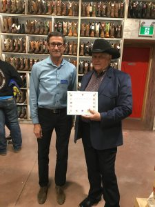 BARRY LAMMLE & CONSTITUENCY ASSISTANT CARL MELNYK AT THE GRAND OPENING OF LAMMLE'S WESTERN WEAR