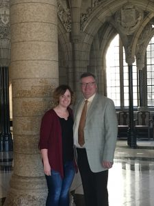 MY DAUGHTER COURTNEY THORNHILL VISITING ME IN OTTAWA