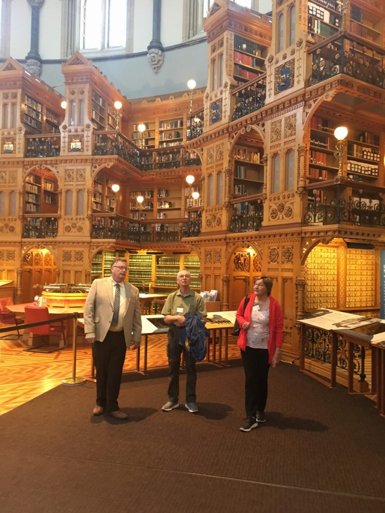 TOUR OF PARLIAMENT WITH STELLA & BARRY BERGLUND