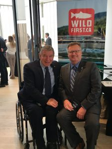 RICK HANSON AT THE WILD SALMON FOREVER RECEPTION IN OTTAWA