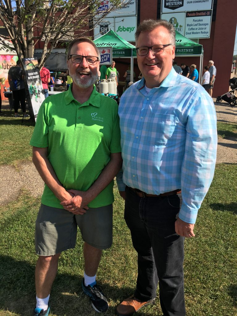 28th Annual Great Western Charity Pancake Breakfast for Prairie Hospice Society-Doug Borrowman Board Chair