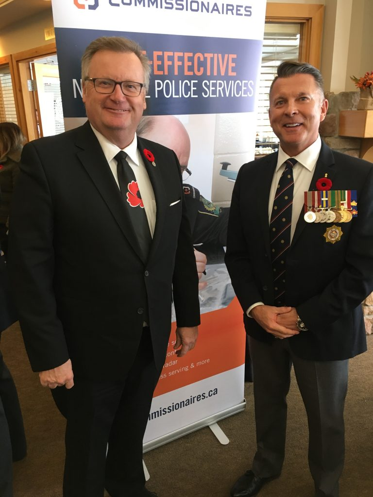 COMMISSIONAIRES ANNUAL REMEMBRANCE DAY LUNCHEON-LORNE GELOWITZ, VICE PRESIDENT NORTH SASKATCHEWAN