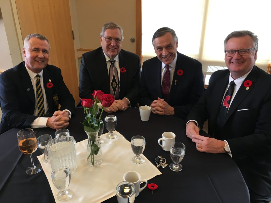COMMISSIONAIRES ANNUAL REMEMBRANCE DAY LUNCHEON-STEVE SHANNON, DON ATCHISON, DON MORGAN