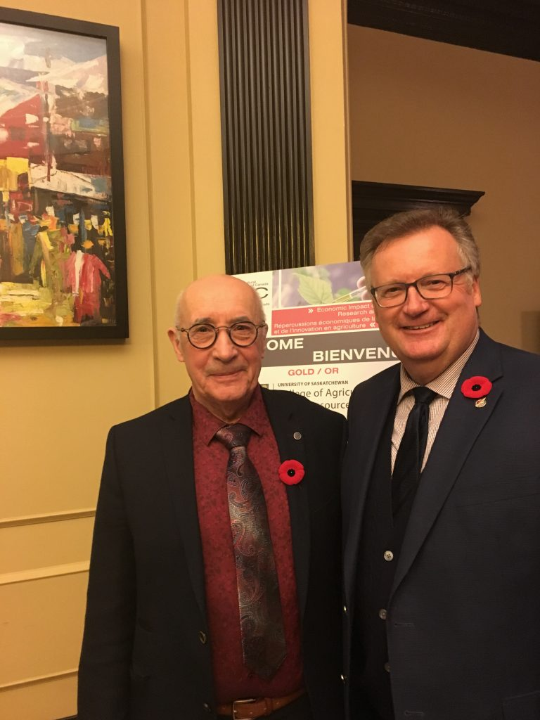 CONGRATULATIONS WILF KELLER INDUCTED INTO THE CANADIAN AGRICULTURE HALL OF FAME