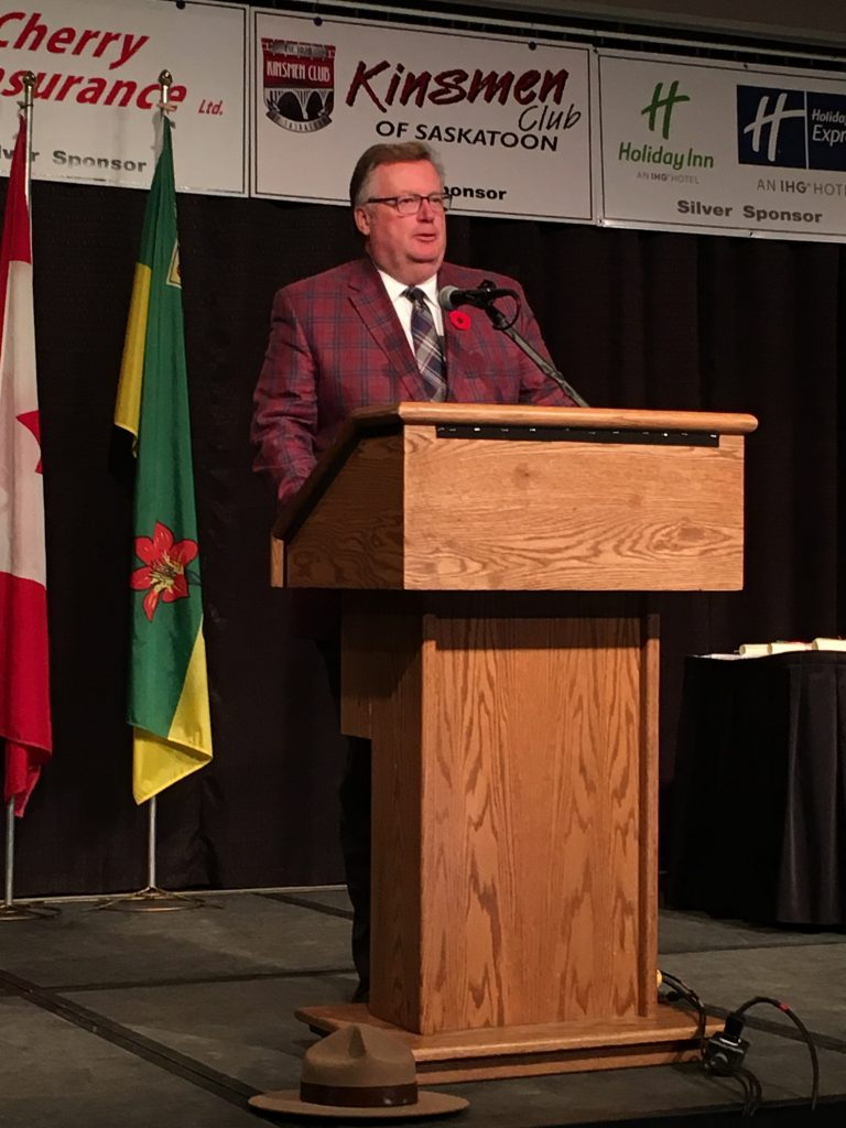 I WAS HONOURED TO HOST THE SASKATOON SPORTS HALL OF FAME DINNER