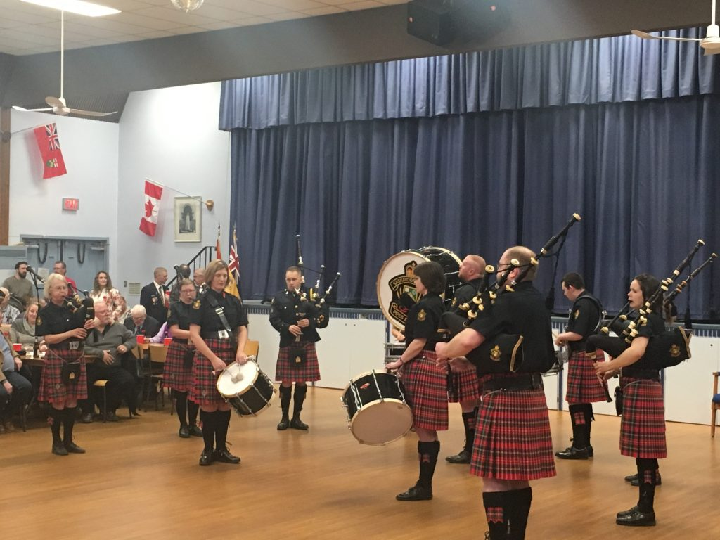 SASKATOON POLICE PIPES & DRUMS-ROYAL CANADIAN LEGION #63 REMEMBRANCE DAY CEREMONY