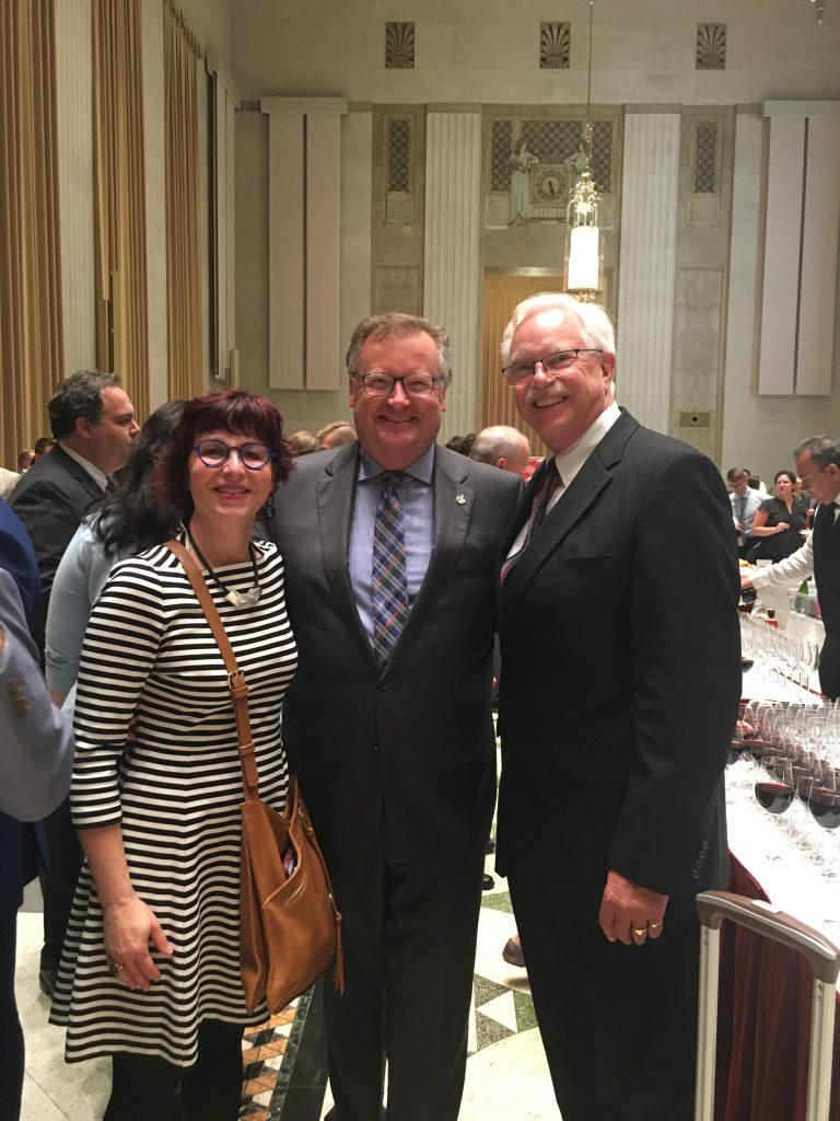 HEATHER FENYES & DAVID ARNOT-ISRAELI WINES & CANADIAN CHEESE RECEPTION IN OTTAWA