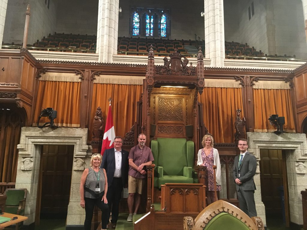 LAURIE SUPPES, RANDY BELOSOWSKY, WANDA ADAIR & AUSTIN AMY-CONSTITUENT TOUR OF PARLIAMENT