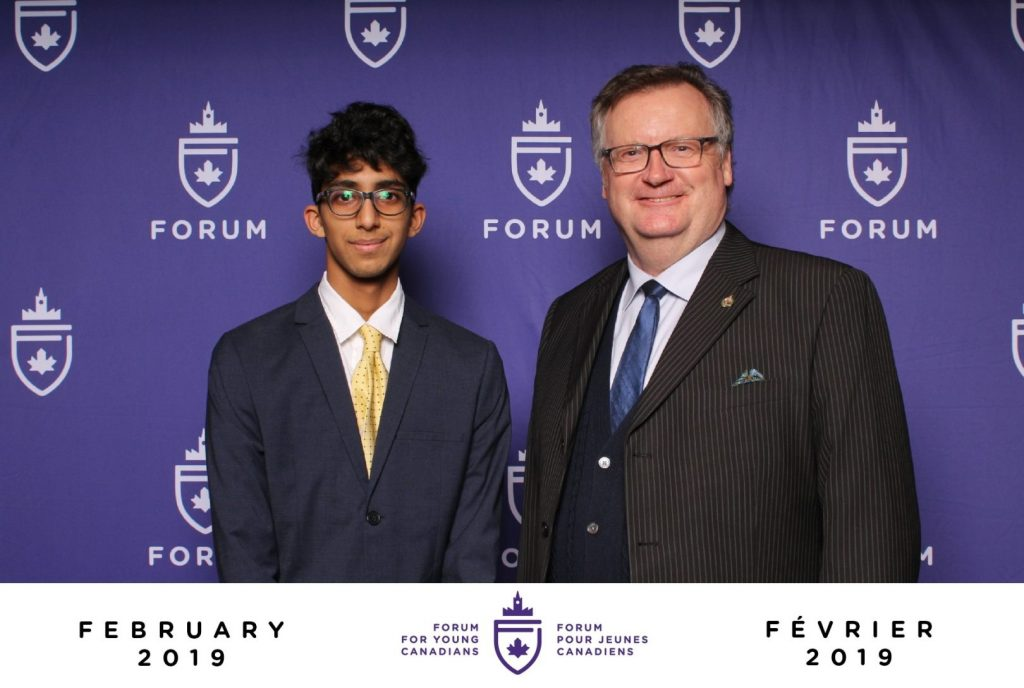 FORUM FOR YOUNG CANADIANS IN OTTAWA-MUHAMMAD PATEL FROM SASKATOON-GRASSWOOD ATTENDED