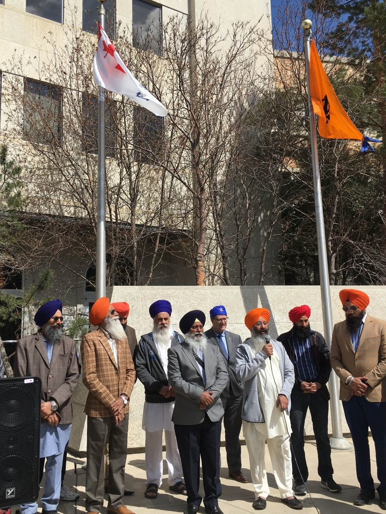 SIKH FLAG RAISING CEREMONY AT CITY HALL RECOGNIZING SIKH HERITAGE MONTH